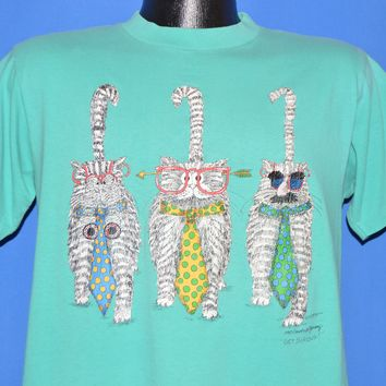 90s Cool Cats Get Serious Double Sided t-shirt Medium