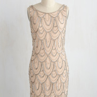 Roaring Reception Dress in Champagne | Mod Retro Vintage Dresses | ModCloth.com