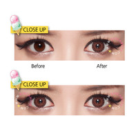 GEO EyesCream Vanilla Brown Circle Lenses Colored Contacts Cosmetic Color Circle Lens | EyeCandy's
