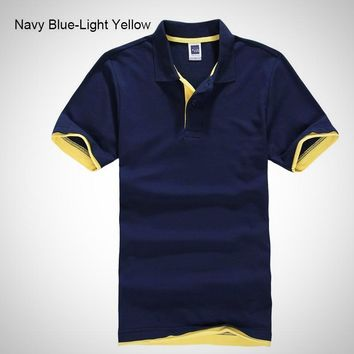 Men's Two Color Designer Polo Shirt