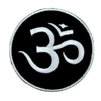 Om Symbol Patch Iron on Applique Spiritual Alternative Clothing