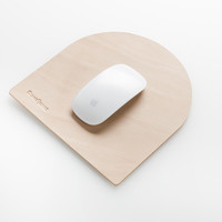 tombstone leather mouse pad