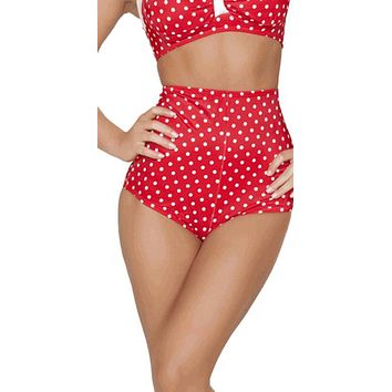 Sexy High Waist Red Pin Up Polka Dot Shorts