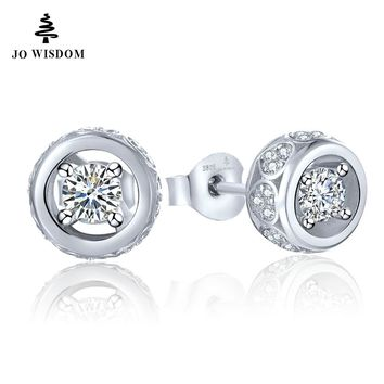 100% 925 Sterling Silver Stud Earring for Women with Natural Topaz Best Gift for Mother/Wife/Friends