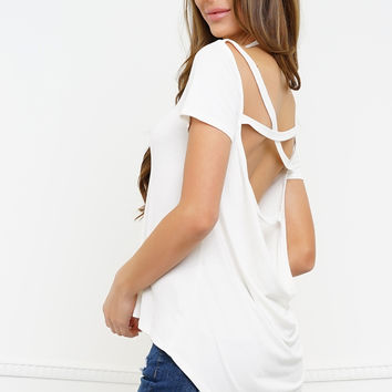 Never Looking Back Tee - White
