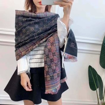 """""""Gucci""""Women Casual Fashion Classic Comfortable Double Sided  Pattern Scarf"""