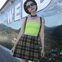 WEED Vintage 90's Get a Clue Plaid Mini - S