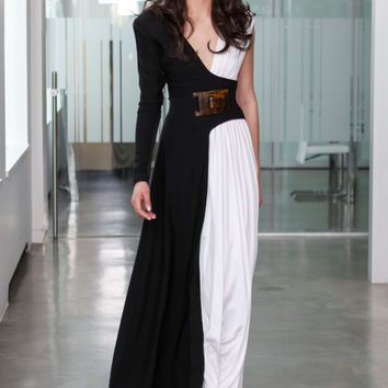 Vivian Gown (black and white)