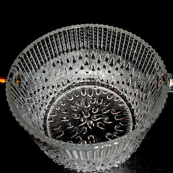 Small Pressed Glass Ice Bucket
