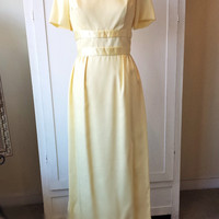 Vintage 1960's Yellow Maxi Dress