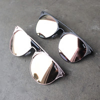 quay x chrisspy - gemini sunglasses with pink/rosegold mirror lens - more colors