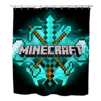 Seal Of The diamond Minecraft custom Shower Curtains