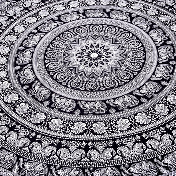 "sale on ""Marubhumi"" Large Hippie Home  Tapestry, Hippy Mandala Bohemian Tapestries, Indian Dorm Decor, Bedroom special , Psychedelic Tapestry Wall Hanging Ethnic Decorative Tapestry, 85 X 90 Inches"
