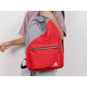 Adidas Fashion Men and Women's Universal Colour Colouring Hot Backpack Travel Shoulder Bags Red