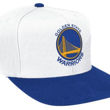online retailer 613d9 0ff52 Golden State Warriors White Mitchell and Ness NBA XL Logo Snapba
