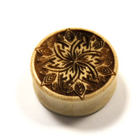 Sayagata Flower Plugs (Pair) [Organic wood stretchers / Gauges 14mm - 50mm]