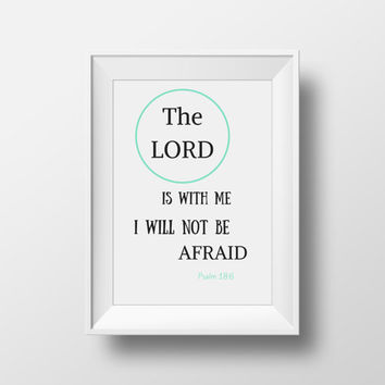 Biblical Print, Nursery Art, Bible Verse Quote, Kids Wall Art, Boys Printable Decor, Baby Boy Shower Gift, Printable Nursery Art - A4 Size