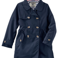 Button-Front Trench Coat