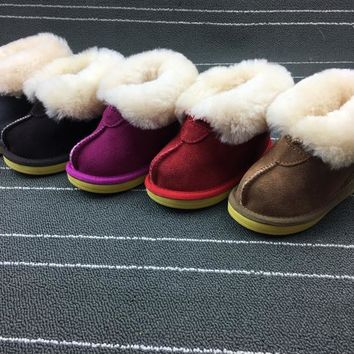 Real Sheepskin Fur Winter Snow Boots