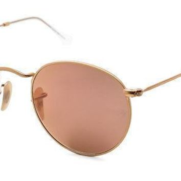 New Unisex Ray Ban Sunglasses Ray-Ban RB3447 Round Flash Lenses 112/Z2