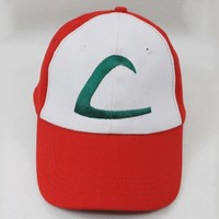 Nintendo Pokemon Ash Ketchum Cap Embroidered Hat One Size-A