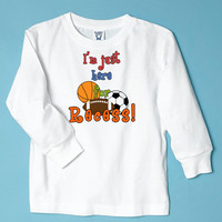 Here for Recess Long Sleeve White T-Shirt