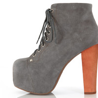 Lita Wood Suede - Grey