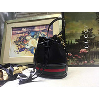 GUCCI WOMEN'S GG SUPREME CANVAS BUCKET INCLINED SHOULDER BAG