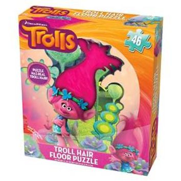 Cardinal Trolls Floor Puzzle with Hair - 46 Pieces