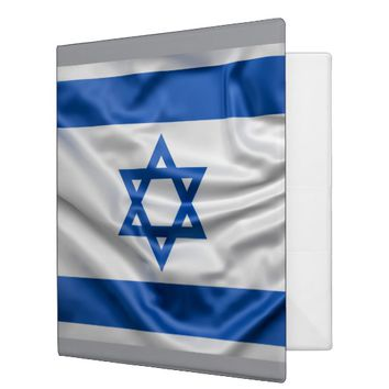 Flag of Israel 3 Ring Binder