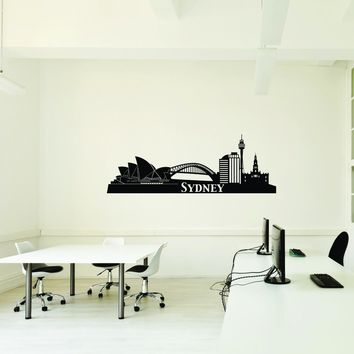 Sydney City Skyline Wall Decal