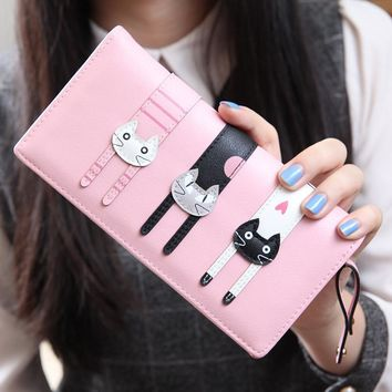 Women's Wallets envelope Cat Card Holder
