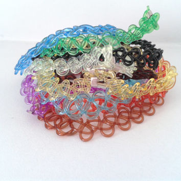 Stretchy Tattoo Bracelet Inspired By The 90's Tattoo Choker Necklace