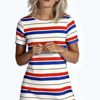 Sophie Stripe Shift Dress