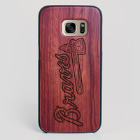 Atlanta Braves Galaxy S7 Edge Case - All Wood Everything