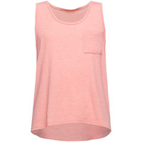 Full Tilt Essential Girls Hachi Pocket Tank Coral  In Sizes