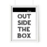 Think Outside The Box Printable Quote - Inspirational Poster   Typography Wall Art   Motivational Wall Decor   Entrepreneur Gifts