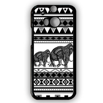 Cover for Htc one M8 Aztec elephant print tribal pattern art cell phone case