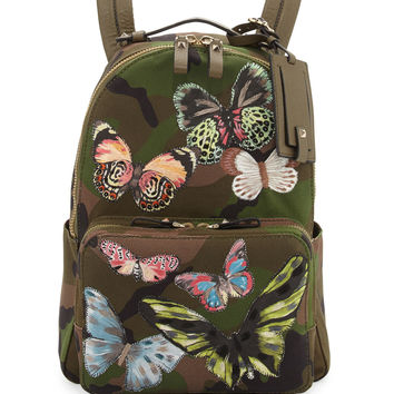 Camo-Print Butterfly Backpack