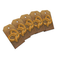 German Soft Pretzel Wood Gift Tag Set