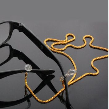 60CM Sliver White Gold Black Reading Glasses Spectacles Sunglasses Eyewear Eyeglass Chain Neck Cord Strap Rope