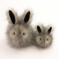 Jasper the Gray Bunny Rabbit Stuffed Animal Toy Plushie - 6x10 Inches Large Size