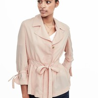 Belted Jacket Blouse | Banana Republic