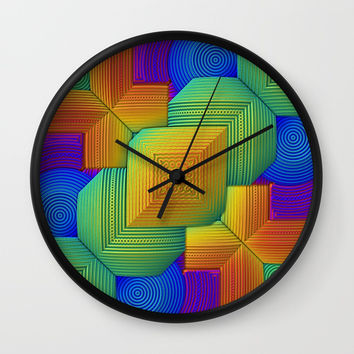 Color Patchwork Wall Clock by lyle58