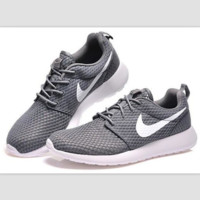 """NIKE"" Trending Fashion Casual Sports Shoes Grey white hook"
