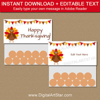 Thanksgiving Treat Bag Toppers - Thanksgiving Candy Bag Toppers - Thanksgiving Bag Toppers - Bag Tags - Bag Labels - Party Supplies T2