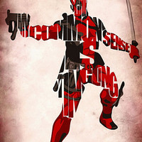 Deadpool  Inspired Typographic Poster