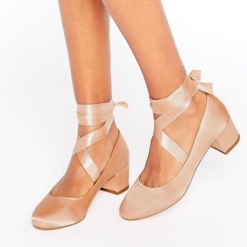 ASOS SO TRUE Lace Up Heels