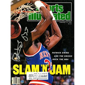 Patrick Ewing Signed 21389 Sports Illustrated Magazine