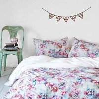 Plum & Bow Aria Floral Duvet Cover- Multi Full/queen